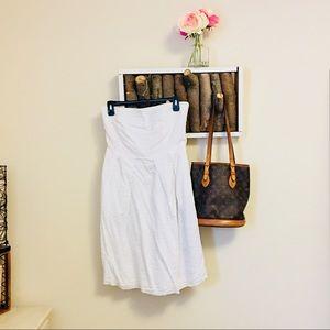 White j.crew strapless dress